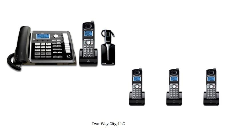 RCA 2-line 1-Corded/4-Cordless Business Phone System with
