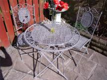 Bistro Set Garden Furniture Table And Chairs Shabby Chic