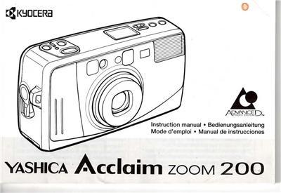 Yashica Acclaim Zoom 200 APS Camera Film Original