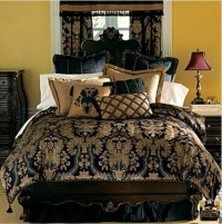 Royal Blue And Gold Bedroom