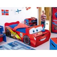 DISNEY CARS TODDLER FEATURE BED LIGHTNING McQUEEN NEW | eBay