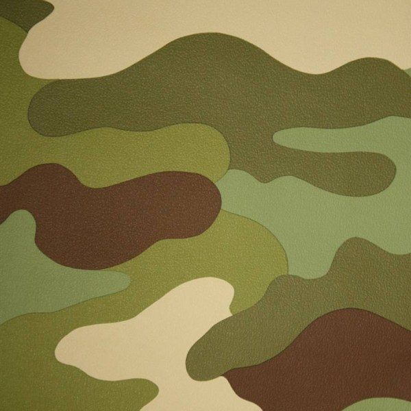 Camouflage Wallpaper 10m Army Green Brown Soldier Camo