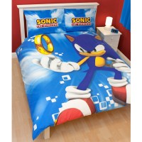 SONIC THE HEDGEHOG 'SPIN' DOUBLE DUVET COVER OFFICIAL NEW