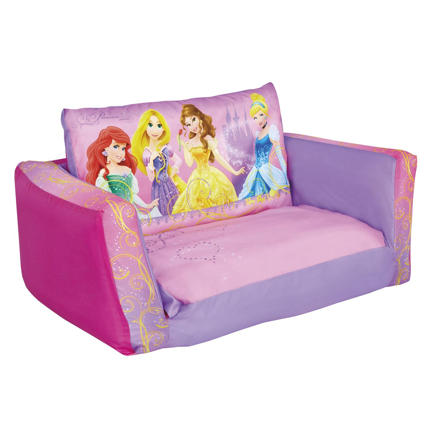disney princess flip out sofa 6 piece sectional uk and bed ready room new ebay