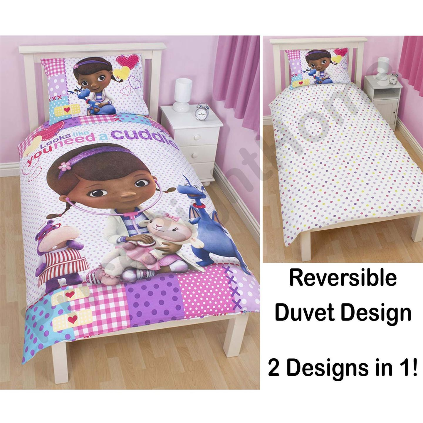 doc mcstuffins upholstered chair uk peacock wicker for sale 39patch 39 duvet cover official new disney