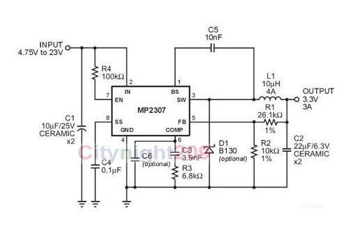 1 pcs MP2307 DC-DC step-down power supply KIS-3R33s module