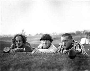 Three Stooges golf photo crazy funny picture lining up