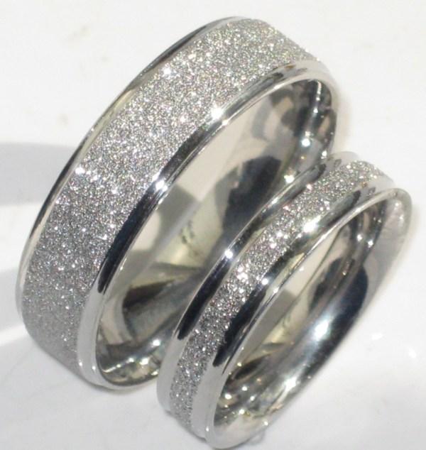 Mens Womens Sparkleblast 6mm 4mm Sparkle Wedding Ring