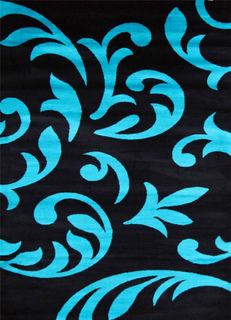 5903 Turquoise Gray Black Brown 5x7, 8x10 Area rugs Carpet