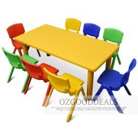 Large Kids Toddler Children Activity Table and 8 Chair ...