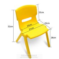 Set of 4 Brand New Kids Toddler Plastic Chair Yellow Blue ...