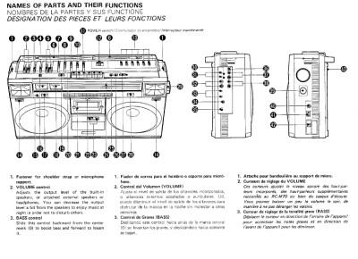 Vtg JVC Cassette Stereo RC-M70JW M70 Owners / Service