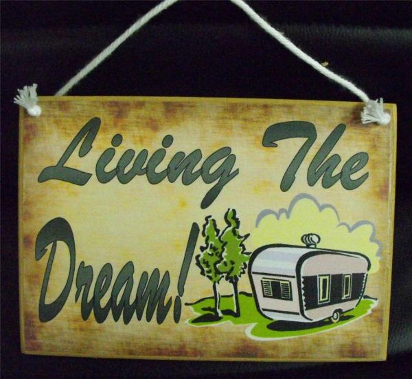 Country Printed Quality Wooden Sign Hanger Living