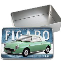 details about personalised nissan figaro green car tin classic retro storage box dad gift cl41 [ 1440 x 1440 Pixel ]
