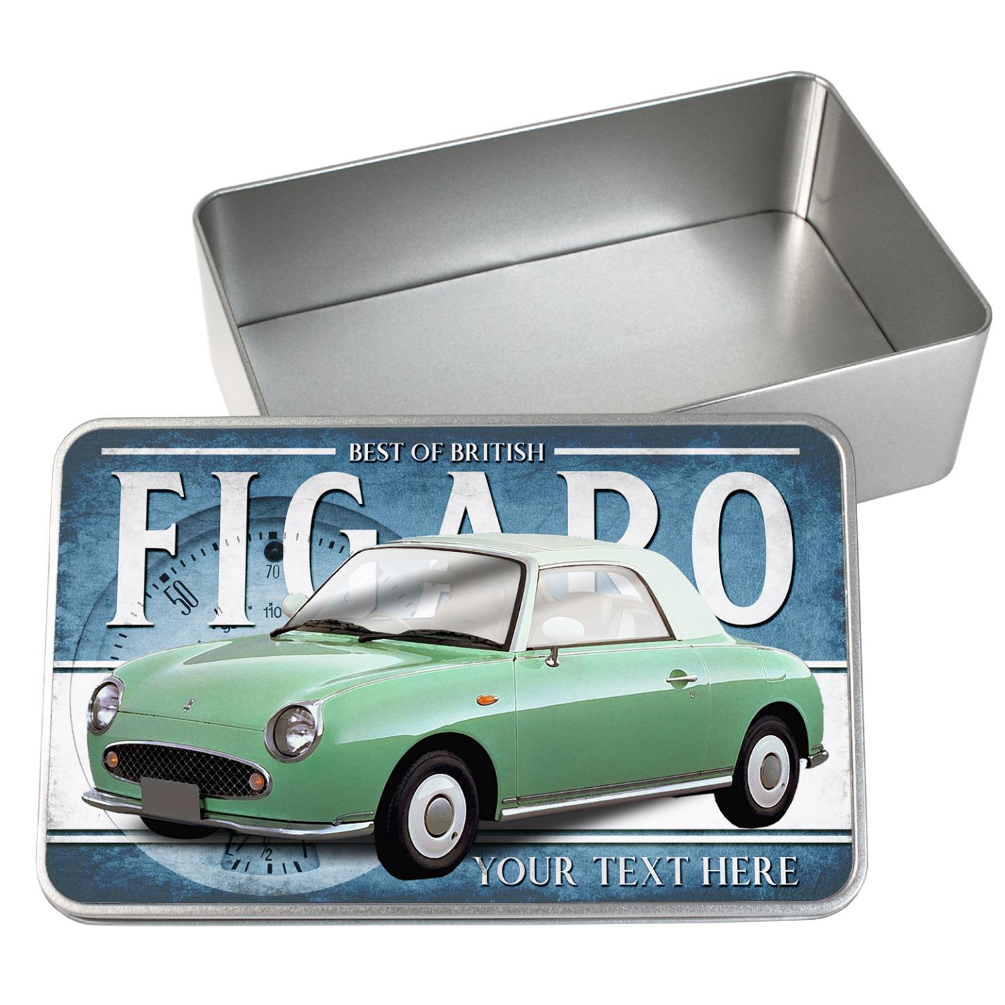 hight resolution of details about personalised nissan figaro green car tin classic retro storage box dad gift cl41
