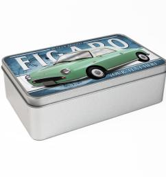 personalised nissan figaro green car tin classic retro storage box dad gift cl41 [ 1440 x 1440 Pixel ]