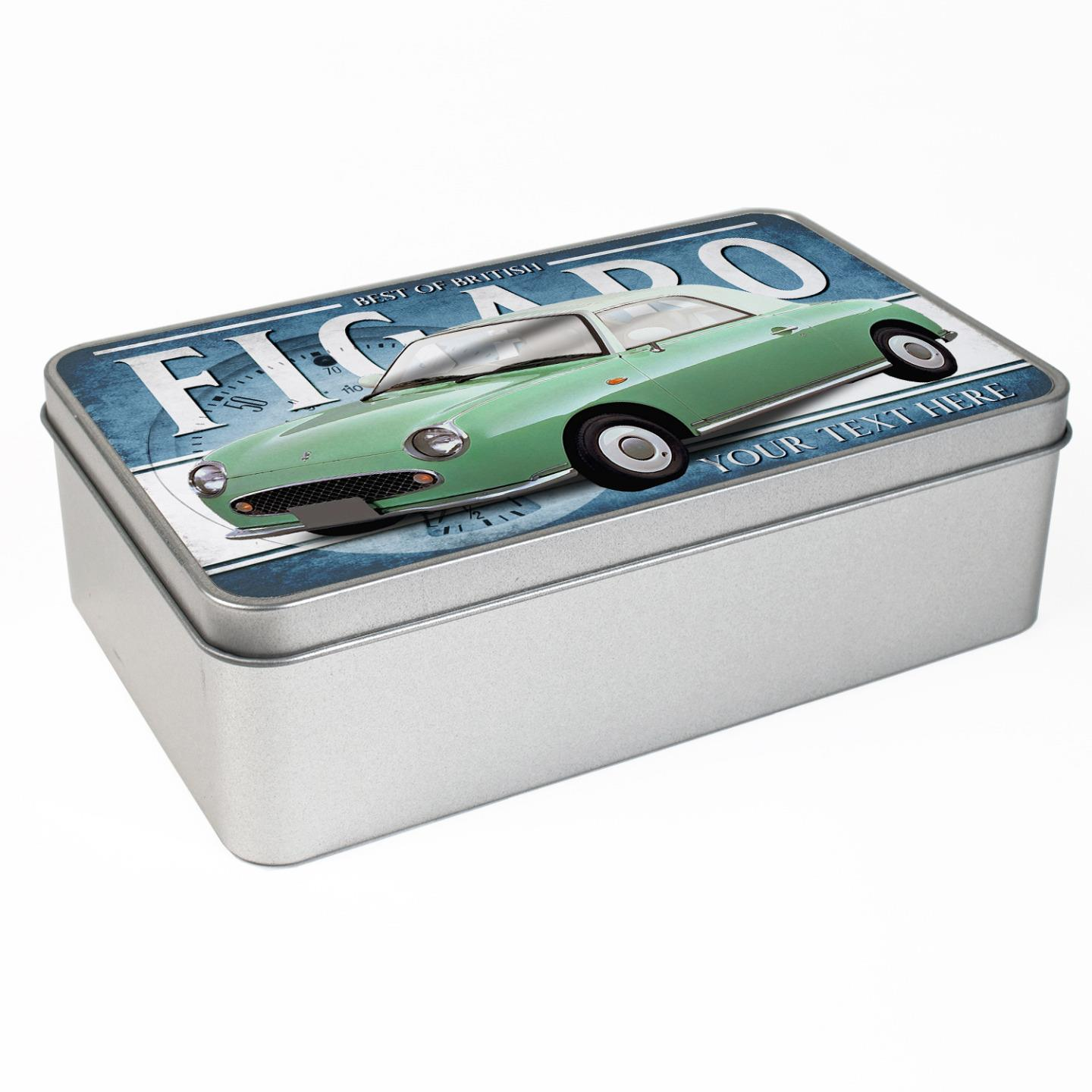 hight resolution of personalised nissan figaro green car tin classic retro storage box dad gift cl41