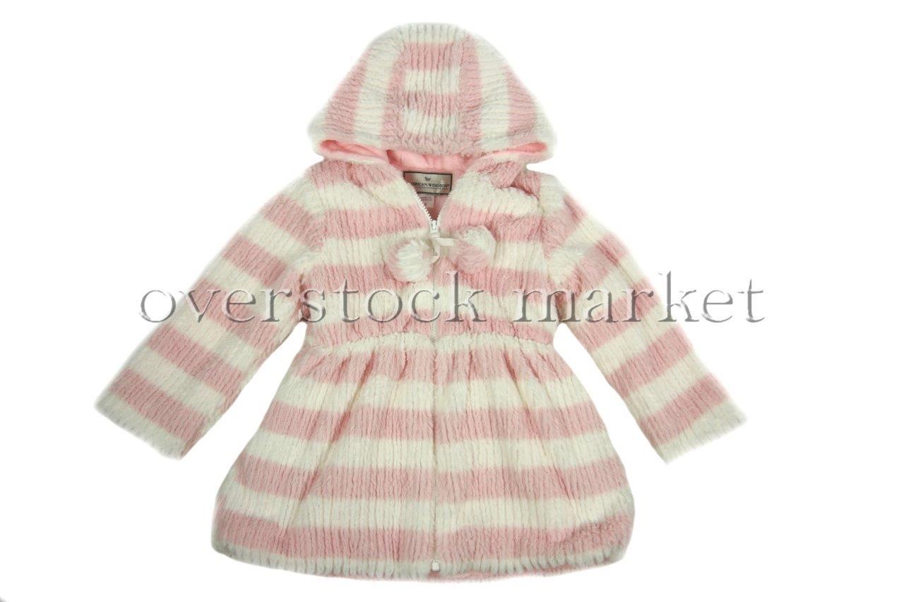 american widgeon pink faux fur coat