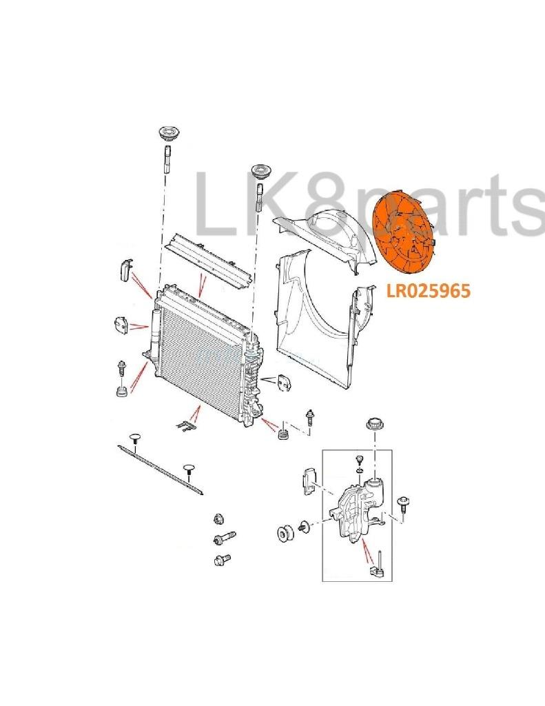RANGE ROVER SPORT LR3 LR4 DIESEL 2.7L V6 COOLING VISCOUS