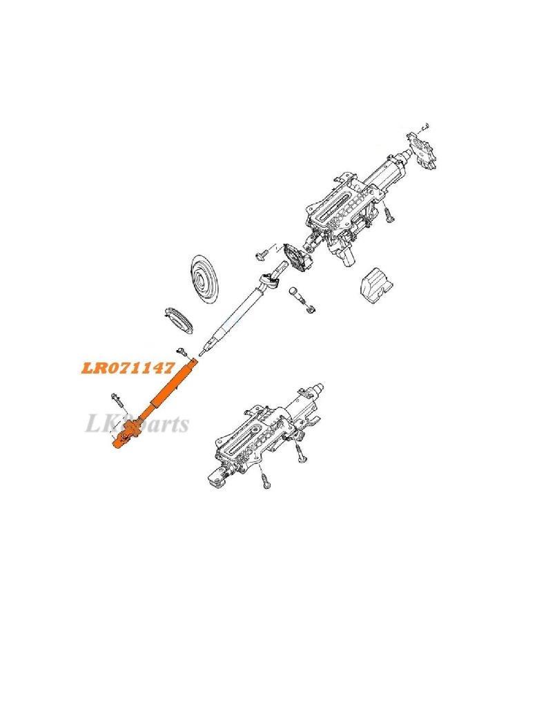 LR4 LR3 RANGE ROVER SPORT LOWER STEERING SHAFT QMN500250