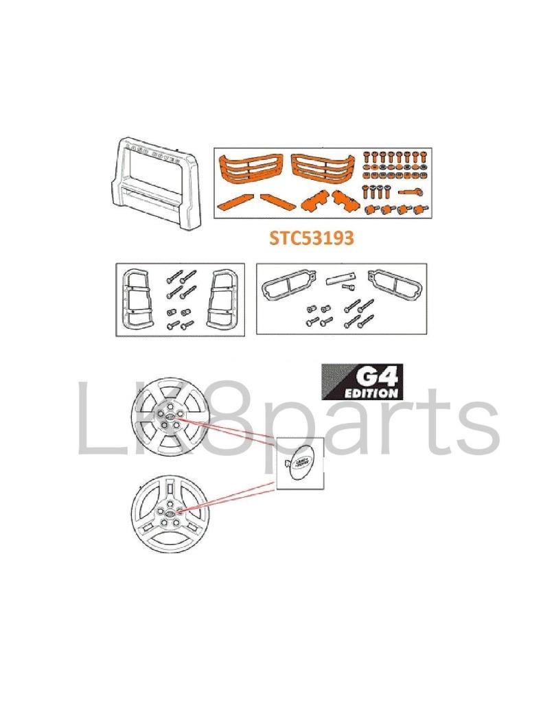 LAND ROVER DISCOVERY 2 2003-2004 FRONT LIGHT GUARD GENUINE