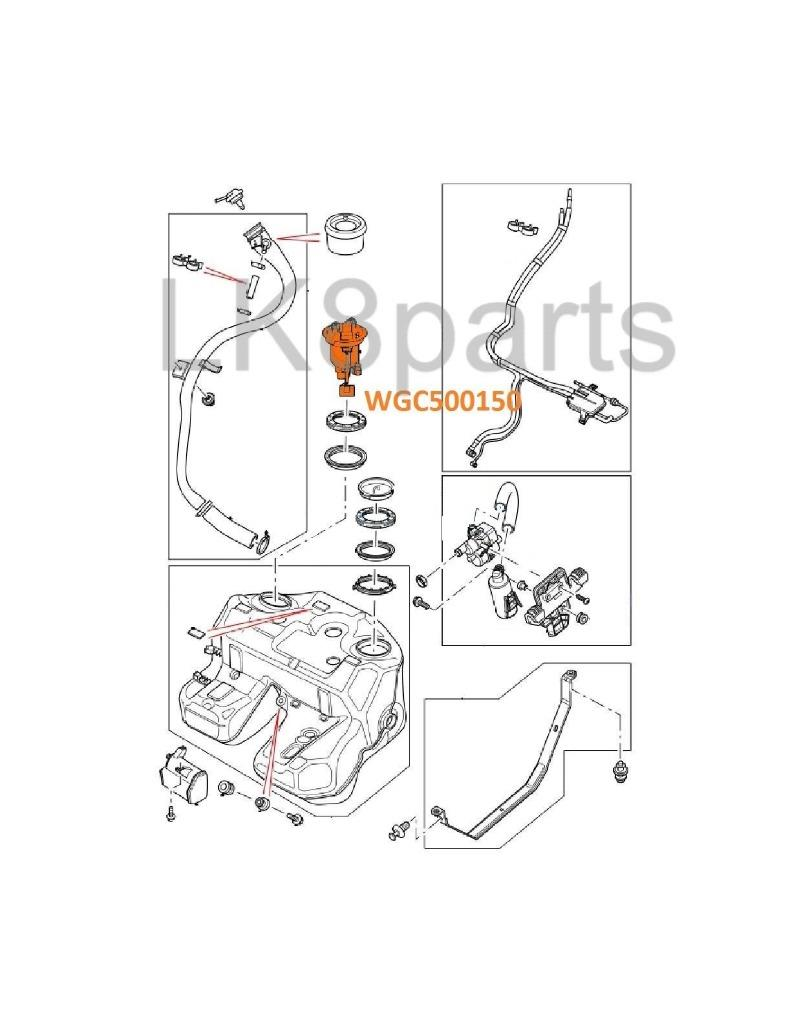 LAND ROVER RANGE 06-09 GENUINE FUEL TANK COVER SENDER with