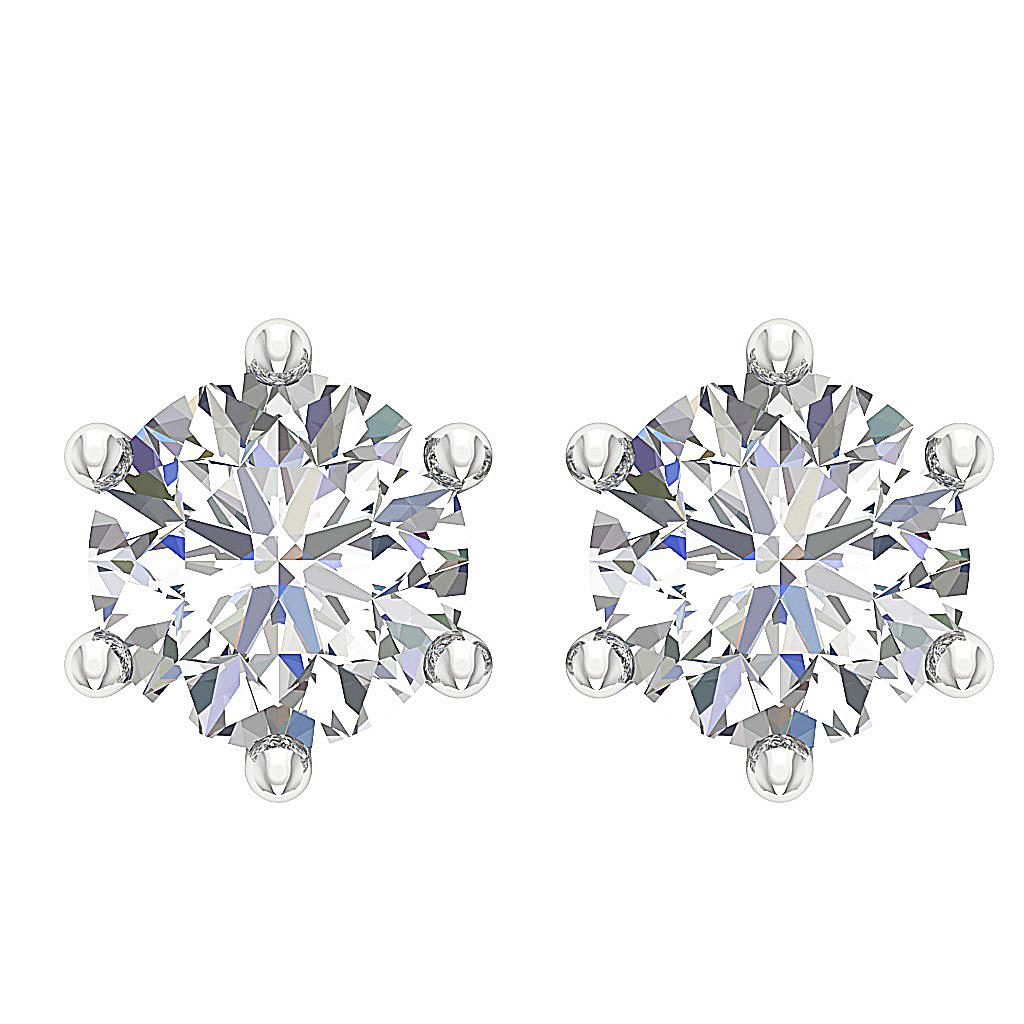 Si1 G 0 40 Ct Real Diamond Solitaire Studs Earrings 14k