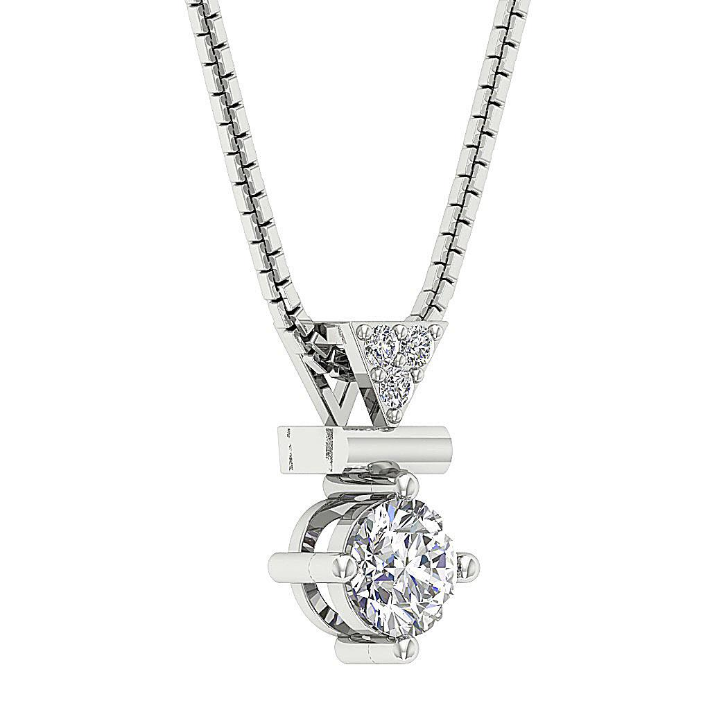 Natural Diamond I1 G 0 50 Ct Fashion Pendant Necklace