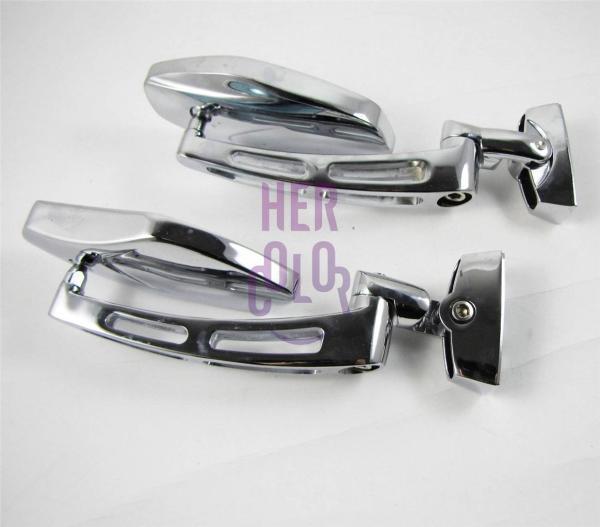 Chrome Adjustable Base Mirrors Rearview Suzuki
