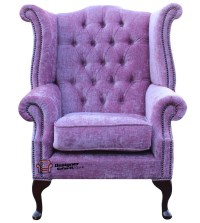 Chesterfield Queen Anne High Back Wing Chair Flamenco ...