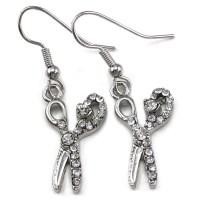 Beauty Salon Hair Stylist Scissors Dangle Earrings Silver ...