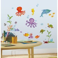 59 New TROPICAL FISH WALL DECALS Octopus Stickers Kids ...