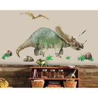 GIANT-TRICERATOPS-DINOSAUR-WALL-DECALS-Dinosaurs-Room ...
