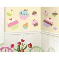 New Large Cupcakes Wall Stickers Girls Bedroom Baby ...