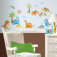 New DINOSAURS WALL DECALS Dinosaur Stickers Kids Bedroom ...