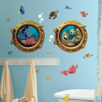 New Giant FINDING NEMO WALL DECALS Kids Bathroom Stickers ...