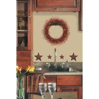 New Berry Vines Wreath Stars Wall Decals Country Kitchen ...