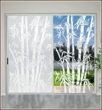 BIG BAMBOO Etched Glass Privacy Decorative Static Cling ...