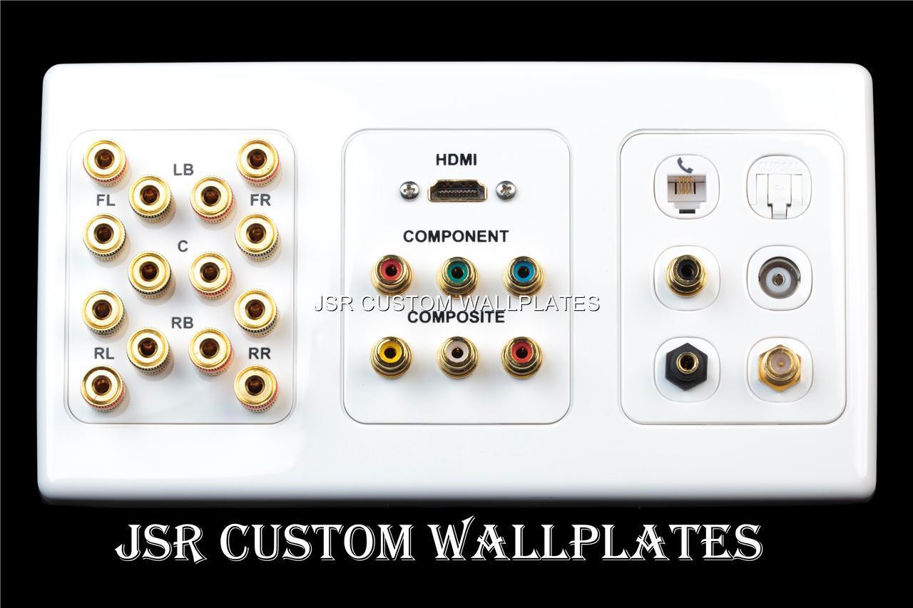 cat 6 wiring diagram for wall plates australia mitsubishi mirage clipsal 7 speaker hdmi cat6 stereo phone plate ebay