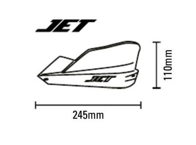 WHITE JET BARKBUSTERS HANDGUARDS for TRIUMPH TIGER 800 XCX