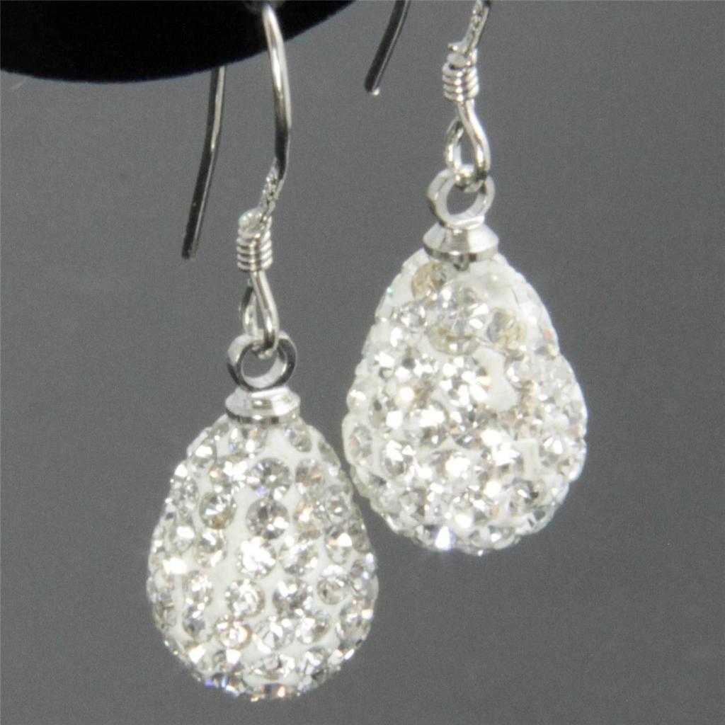 1cm Sparkle Shamballa Heart / Teardrop Swarovski Crystal