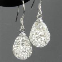 1cm Sparkle Shamballa Heart / Teardrop Swarovski Crystal ...