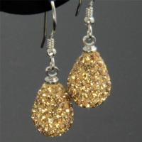 Color Sparkle Shamballa Heart & Teardrop Swarovski Crystal ...