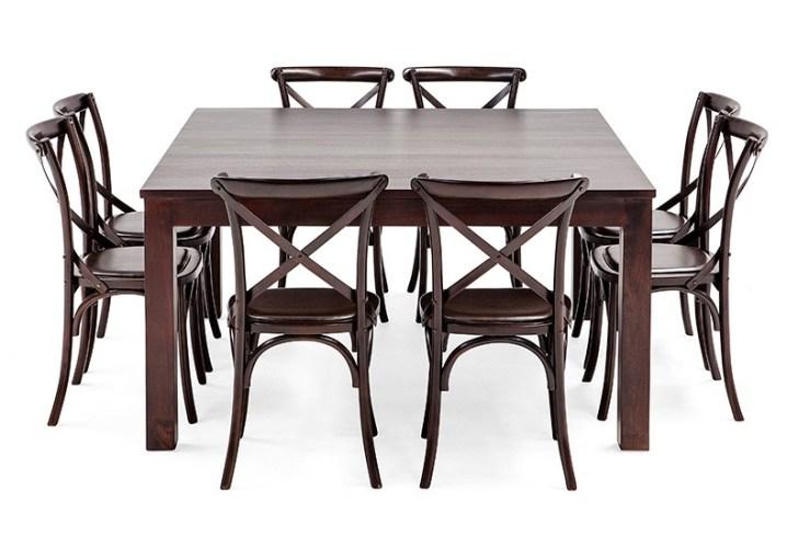 Black Square Dining Table Seats 8