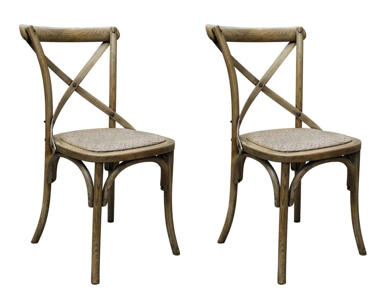 bistro style dining chairs plastic chair with oak legs set of 2 quotnoosa quot natural french timber