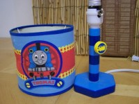 """THOMAS THE TANK ENGINE TRAIN BEDSIDE TABLE LAMP 11"""" TALL ..."""