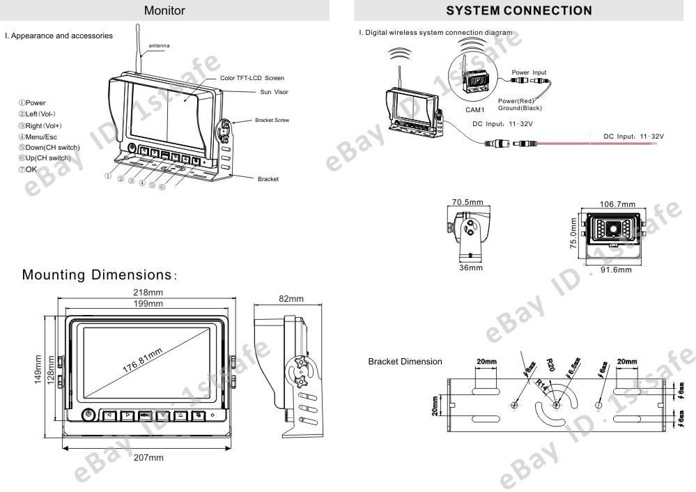 REAR VIEW BACKUP CAMERA SYSTEM 7