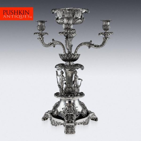 Silver Candelabra Centerpiece