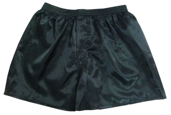 Black Men' Satin Boxer Shorts 2 1 Free
