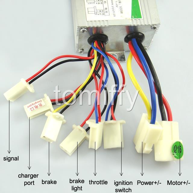electric scooter motor controller wiring diagram dodge durango radio brush speed 24v 24 volt 500w for bike does not apply